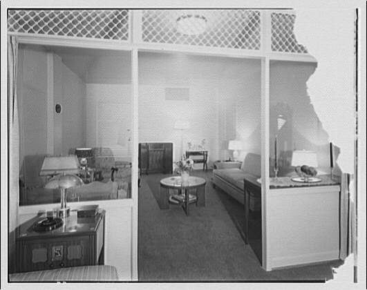 Potomac Electric Power Co. apartments and kitchens. Shoreham Hotel, rooms and kitchen III