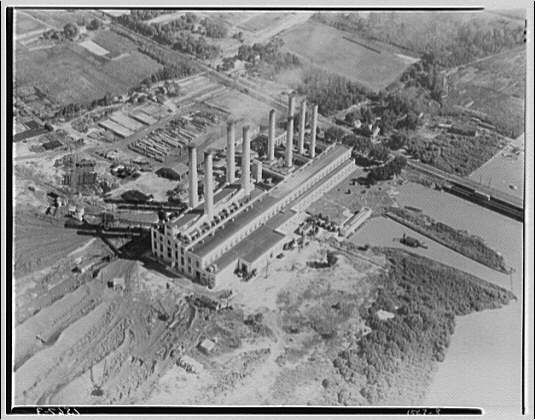 Potomac Electric Power Co. Benning plant. Aerial view of Benning plant II
