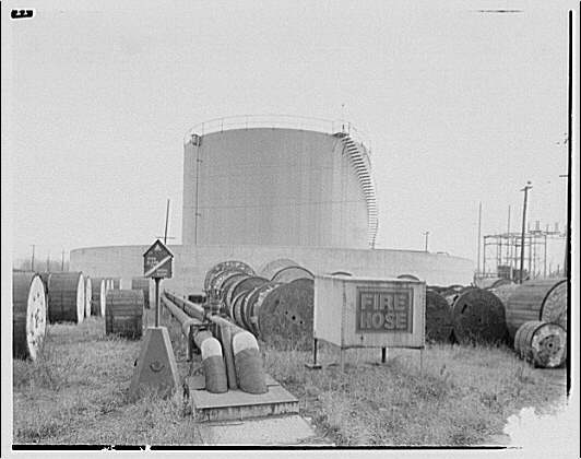 Potomac Electric Power Co. Benning plant. Fire fighting equipment and tank at Benning plant