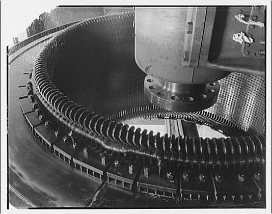 Potomac Electric Power Co. Benning plant. Frequency changer machinery detail at Benning plant