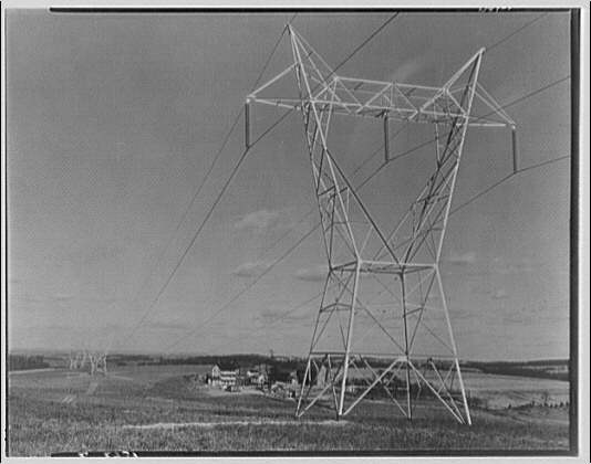 Potomac Electric Power Co. Benning plant. High tension wires