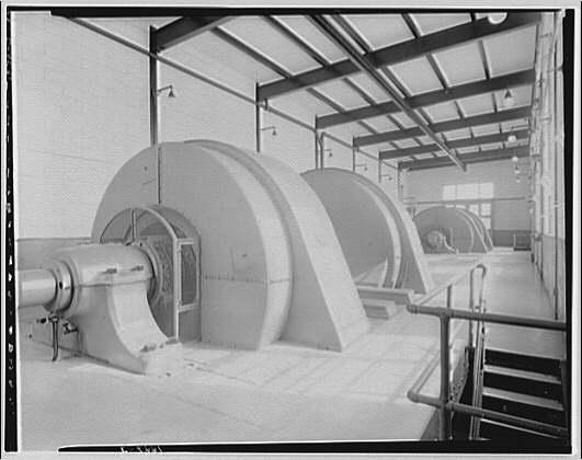 Potomac Electric Power Co. Benning plant. Interior of Benning plant III
