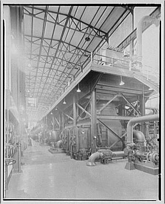 Potomac Electric Power Co. Benning plant. Interior view from floor of Benning plant