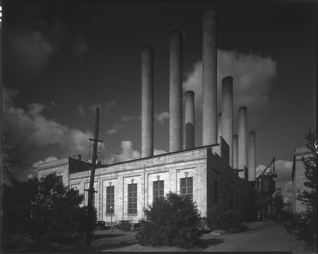 Potomac Electric Power Co. Benning plant. Rear view of Potomac Electric Power Co. Benning plant