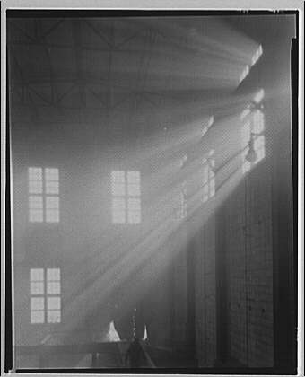 Potomac Electric Power Co. Benning plant. Sun rays in Benning plant