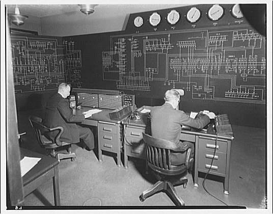 Potomac Electric Power Co. Building. Control board on 9th floor of Potomac Electric Power Co. II