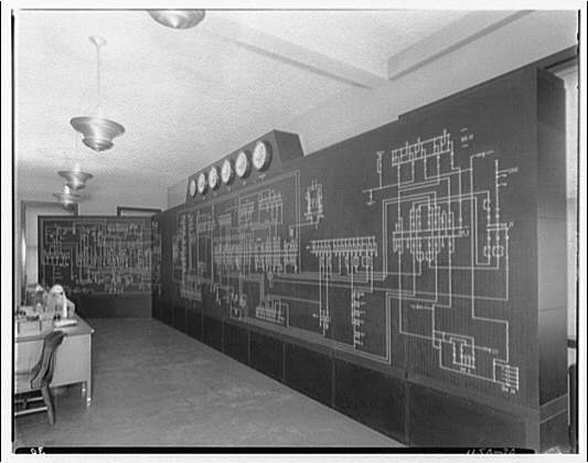 Potomac Electric Power Co. Building. Control board on 9th floor of Potomac Electric Power Co. IV