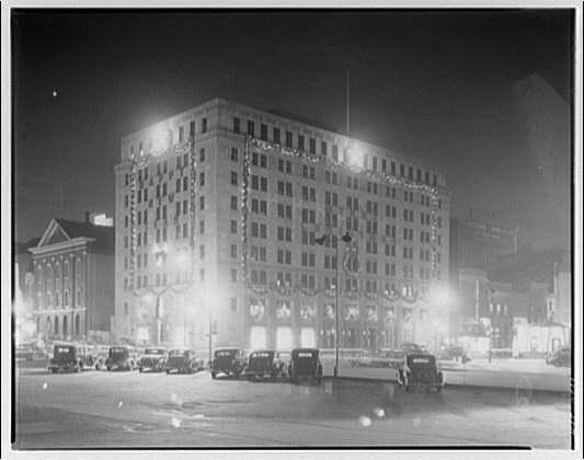 Potomac Electric Power Co. Building. Exterior of Potomac Electric Power Co. at night I