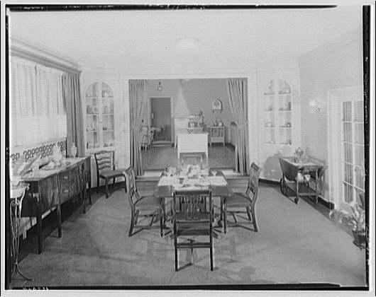 Potomac Electric Power Co. Building. Model home dining room of Potomac Electric Power Co.