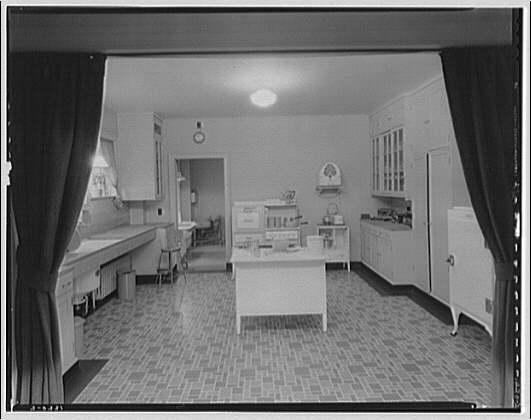 Potomac Electric Power Co. Building. Model home kitchen of Potomac Electric Power Co.