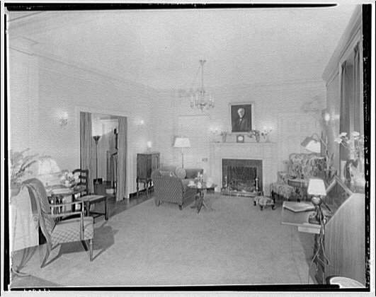 Potomac Electric Power Co. Building. Model home living room of Potomac Electric Power Co. I