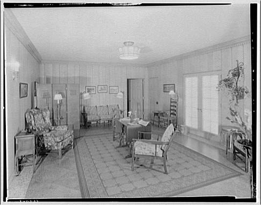 Potomac Electric Power Co. Building. Model home living room of Potomac Electric Power Co. II