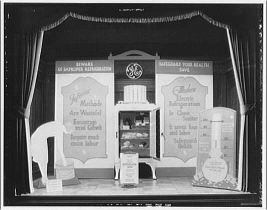 Potomac Electric Power Co. Building. Model home window display, G.E. refrigerator II