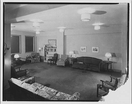 Potomac Electric Power Co. Building. Women's club room in Potomac Electric Power Co. Building I