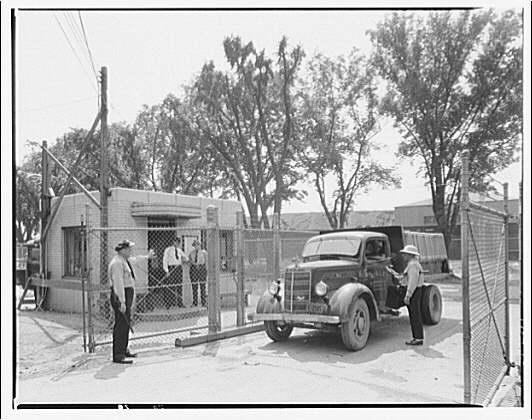 Potomac Electric Power Co. Buzzard Point plant. 2nd St. gate, truck entrance, Buzzard Point plant