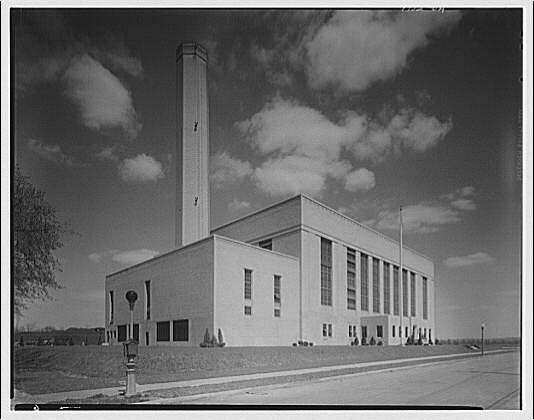Potomac Electric Power Co. Buzzard Point plant. Buzzard Point plant exterior completed III