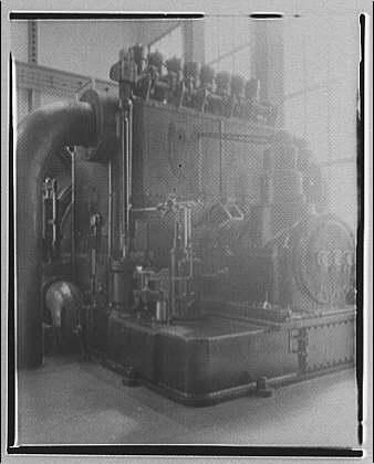 Potomac Electric Power Co. Buzzard Point plant. Closeups of turbine made for G.E. calendar II