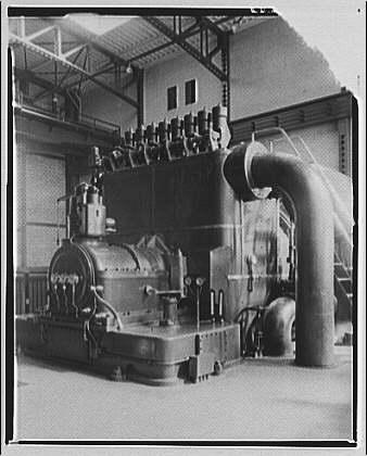 Potomac Electric Power Co. Buzzard Point plant. Closeups of turbine made for G.E. calendar I