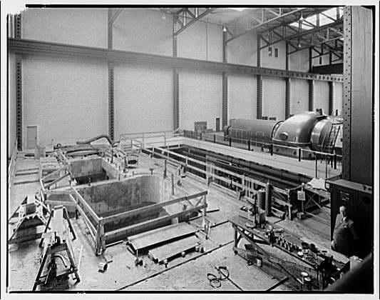 Potomac Electric Power Co. Buzzard Point plant. Construction work inside Buzzard Point plant XI