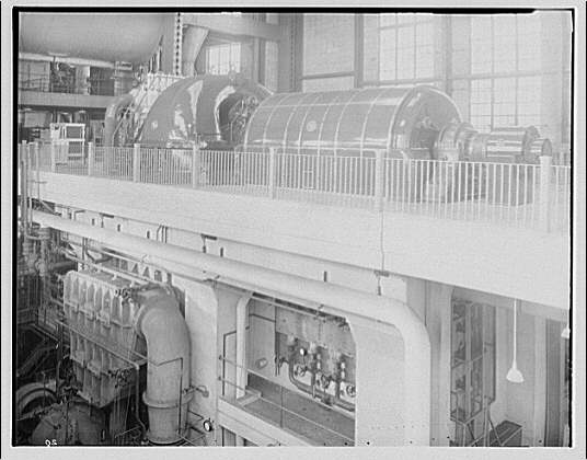 Potomac Electric Power Co. Buzzard Point plant. Second turbine nearing completion at Buzzard Point plant IV