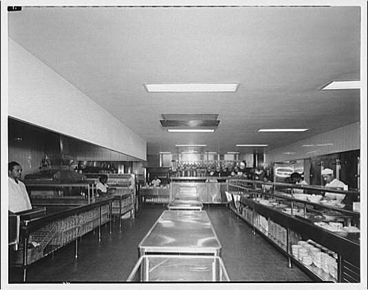 Potomac Electric Power Co. commercial kitchens, restaurants and lighting. Mayflower Hotel kitchen and dining room in coffee shop II