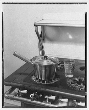 Potomac Electric Power Co. electric appliances. Boiling water on gas range