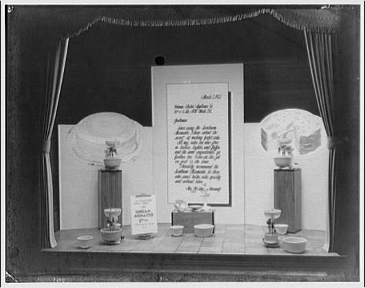 Potomac Electric Power Co. electric appliances. Mixers on display in PEPCO window