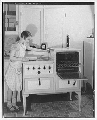 Potomac Electric Power Co. electric appliances. Norma at electric range III