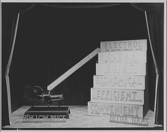 Potomac Electric Power Co. electric appliances. Window, oil burner