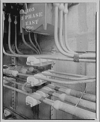 Potomac Electric Power Co., manhole and cables. Detail of PEPCO cable V