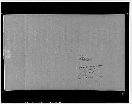 Potomac Electric Power Co. miscellaneous. Copy of railroad photo, verso