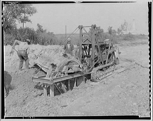 Potomac Electric Power Co. miscellaneous. Ditch digging machine