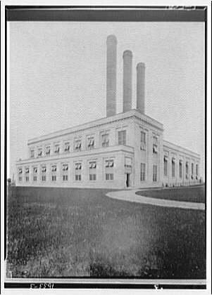 Potomac Electric Power Co. miscellaneous. Exterior of PEPCO power plant