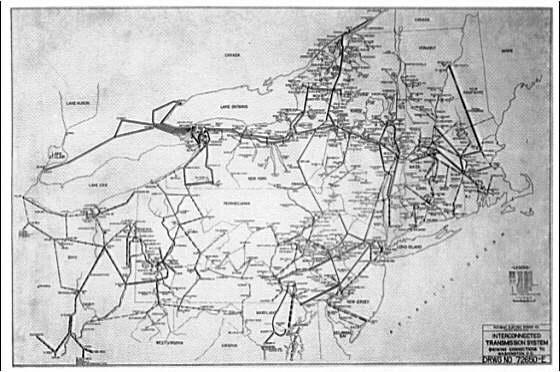 Potomac Electric Power Co. miscellaneous. PEPCO map