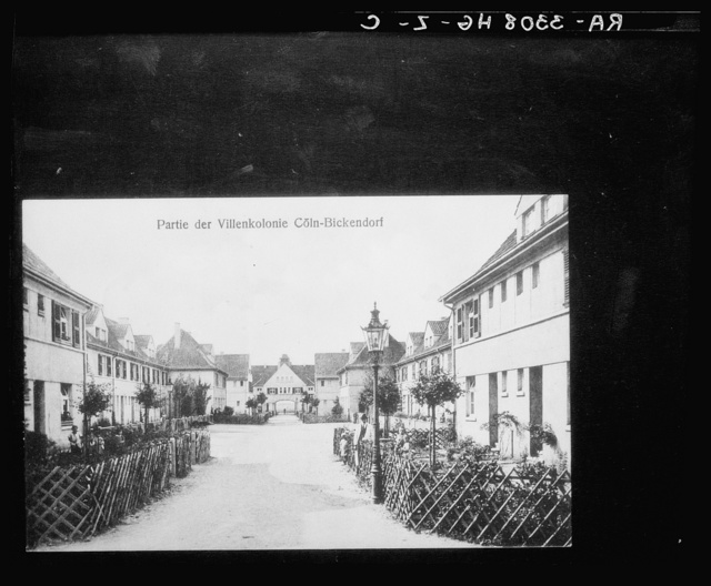 Rickendorf, near Cologne, Germany. Part of a villa colony