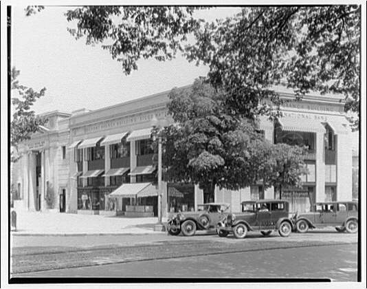Riggs Bank, Dupont branch. Exterior of Riggs Bank from Dupont Circle