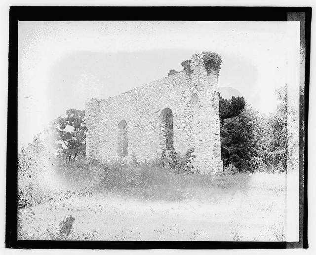 Ruins of first Lutheran church in America, Winchester