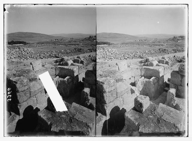 Ruins of Jerash (Gerasa). Church of St. Theodore. The baptismal font.