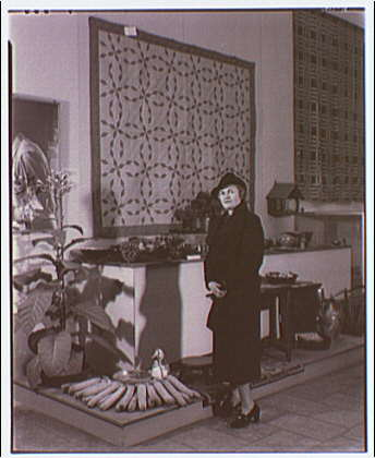 Russell Sage Foundation exhibit. Mrs. Wallace at the exhibit I