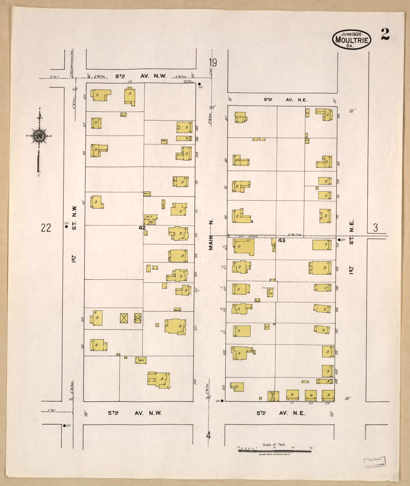 Map Of Georgia Fire.Sanborn Fire Insurance Map From Moultrie Colquitt County Georgia