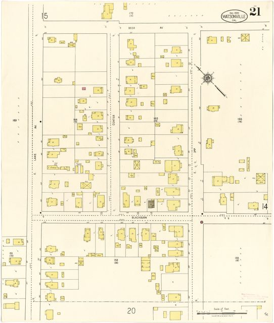 Sanborn Fire Insurance Map from Watsonville Santa Cruz County