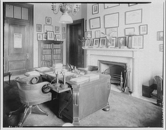 Senate Office Building. Interior of Senator Goff's office