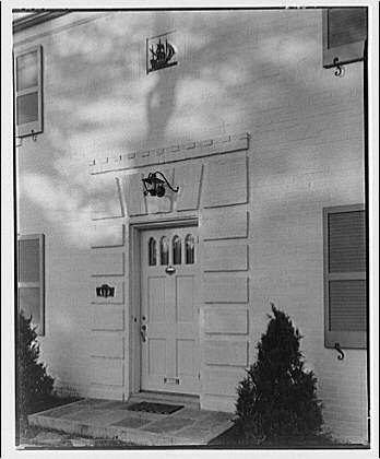 Sharkey house. Front entrance of Sharkey house