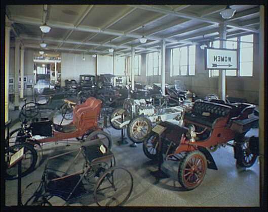 Smithsonian Institution Building. Automobile exhibit, Smithsonian Institution