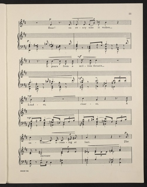 Soldier, soldier dramatic ballad for baritone