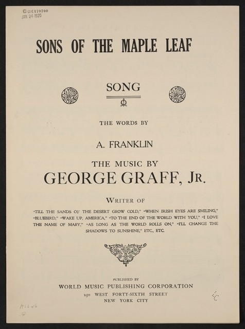Sons of the maple leaf song