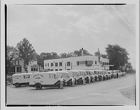 Southern Dairies Building and trucks. Southern Dairies building and trucks I