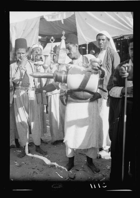 Southern Palestine. Nebi Rubin (The Prophet Reuben). A Nebi Rubin lemonade vendor