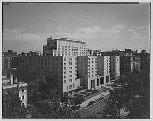 Statler Hotel. Elevated view of Statler Hotel II