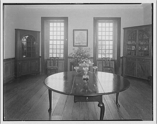 Stratford Hall. Dining room at Stratford Hall